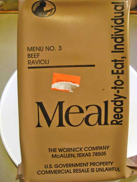 meal ready to eat package