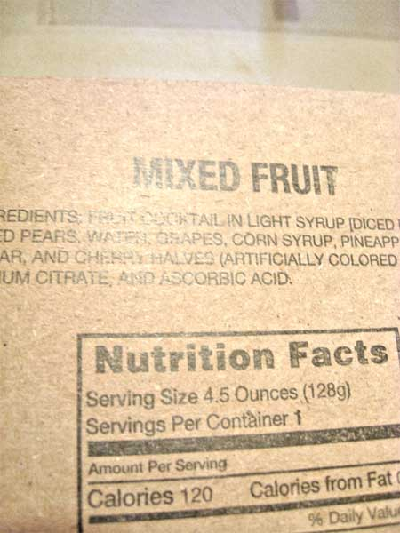 mre mixed fruit package