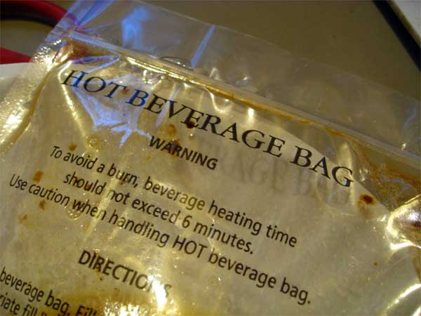 bag to heat coffee