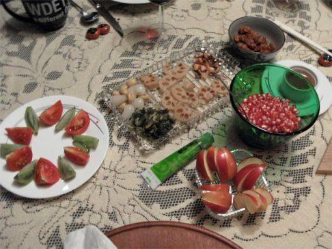 rosh hashanah dinner 2012