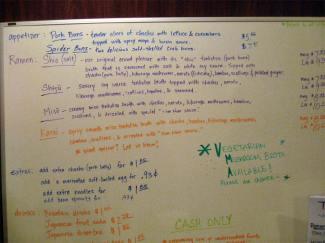 menu at Nom Nom Ramen Philly PA
