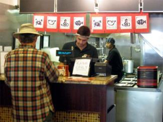 ordering at Nom Nom Ramen Philly
