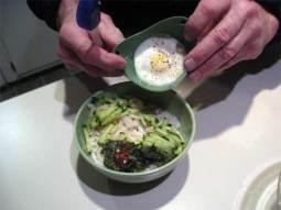 poached egg in a poach pod