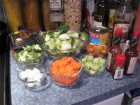 vegetables prepared for shabu shabu