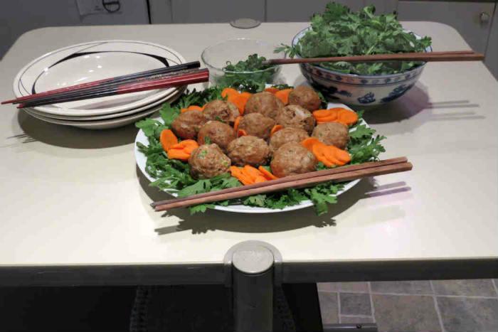 japanese chicken meatball nabe_6067