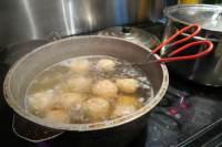 parboil meatballs